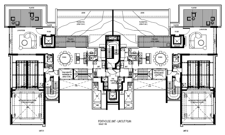 Reignwood Hamilton Scotts Penthouse Level 30 Floor Plans