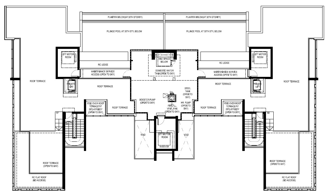 Reignwood Hamilton Scotts Penthouse Upper Roof Floor Plans